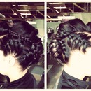 Pin-up braided hawk