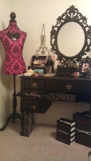 Every girl should have a beautiful space to apply her makeup!
