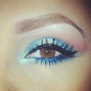 Teal and electric blue shadow