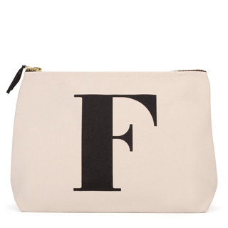 Natural Wash Bag Letter F