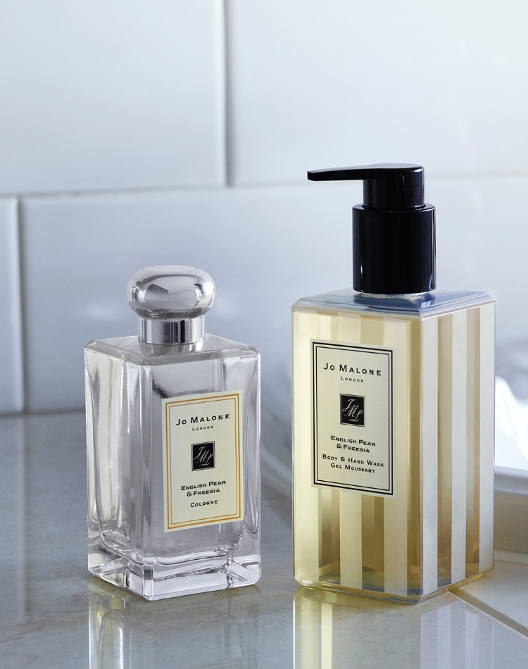 Alternate product image for English Pear & Freesia Body & Hand Wash shown with the description.