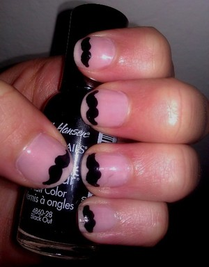 Movember nails (by Cute Polish) - Just thought these were too cute :)