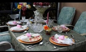 Home Decor Table Setting For Outdoors And Patio