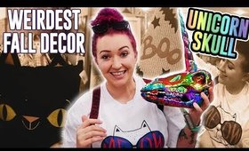 SHOP WITH ME | Weird Fall Decor 2019 (Unicorn Skulls WTF)