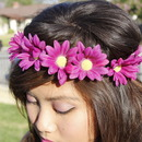 Purple Daisy Elastic Headband