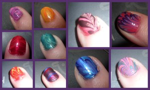 My first attempt at water marbling