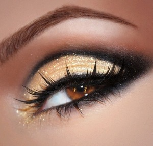 Can never say no to light gold with sparkle