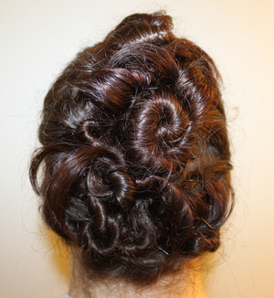 Twist & Pin hair (Sorry about the frizziness, this was after 9 hours of wear!)