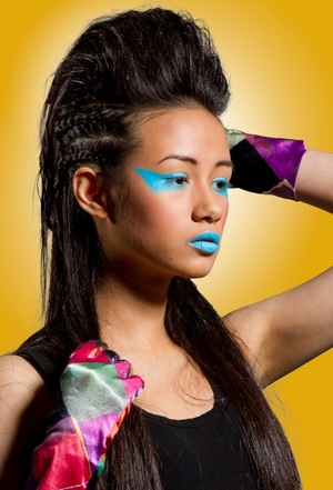 Inspired by Nicki Minaj's make up in Stupid hoe.  Photographer: Myriam Marti