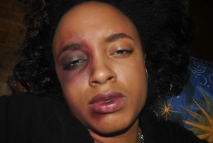 This makeup was done for my friend's project on domestic violence.