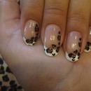 Cheetah Print French Tip