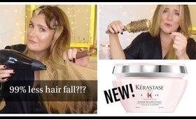 99% LESS HAIR FALL?!? NEW KERASTASE GENESIS TESTED #TreatmentTuesday