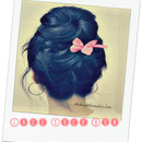 Romantic Sock Bun for Valentine's Day!  Upside Down Braided, Lace Braid Bun.
