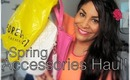 HUGE Spring Accessories Haul! ✿ Jewelry, Purses, & Shoes!