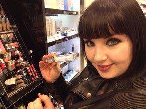 me buying my dior lipgloss in tiara