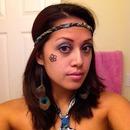 Blue Hippie Halloween look