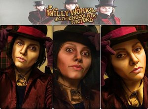 I decided to attempt a transformation of the Johnny Depp version of Willy Wonka.