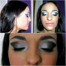 Blue/Silver Smokey Eye