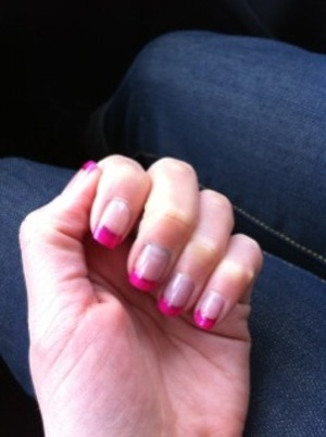 Pink french nail!