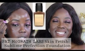 $68 FOUNDATION ON DARK SKIN! Pat McGrath Skin Fetish Foundation | @rachaelnalumu