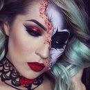 Burlesque half skull