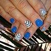 Blue Nails/White Nails/Nails/Silver