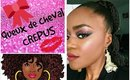 Queue de cheval sur cheveux crépus by Be Glad MAKE UP