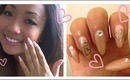 Heart outline nail art tutorial