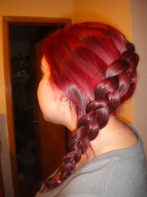 left side of the braid.. super cool and easy to do