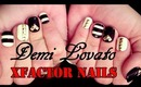 Demi Lovato XFactor inspired nails | Tutorial