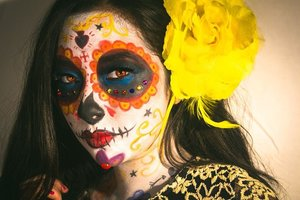 La muerte, inspired by the movie The Book of Life. Makeup by Dalia Luna