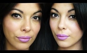 Spring Makeup Tutorial - Purple lips!