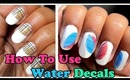 How to use nail art water decals | Kkcenterhk