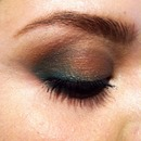 emerald greens and brows