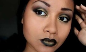 Gothic Sexy Gold and Black Makeup Tutorial