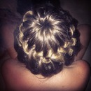 bun braid I tried on my sister