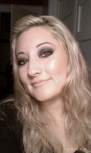 I love doing smokey eyes with color. Deep Truth is one of my favorite blues from MAC!