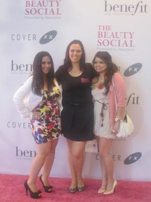 At the beauty social!