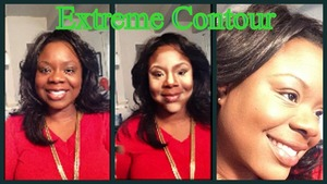 This is a photo describing how to do an extreme contour. This is great for creating flawless skin, or redefining features.