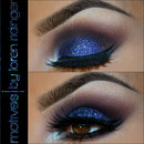 Glam in blue and burgundy