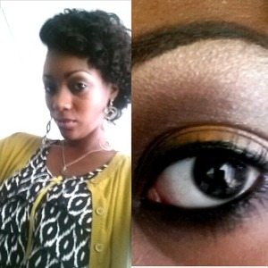 Neutral day look with a pop of yellow.