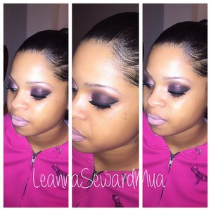 She just wanted her eyes done! No foundation and no brow fill in . You have to give the clients what they want