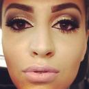 glittery make up
