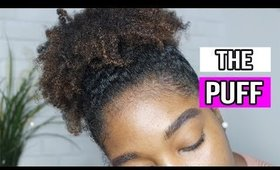 MEGA High Puff on 4a 4b Thick Natural Curly Hair!  Jessica Chanell