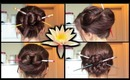 Four Chopstick Hairstyles