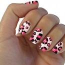 cheetah print nails done with app