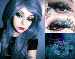 My second halloween makeup look!!! Model photo makeup all me. Lens from Shoppingholics http://www.loveshoppingholics.com/