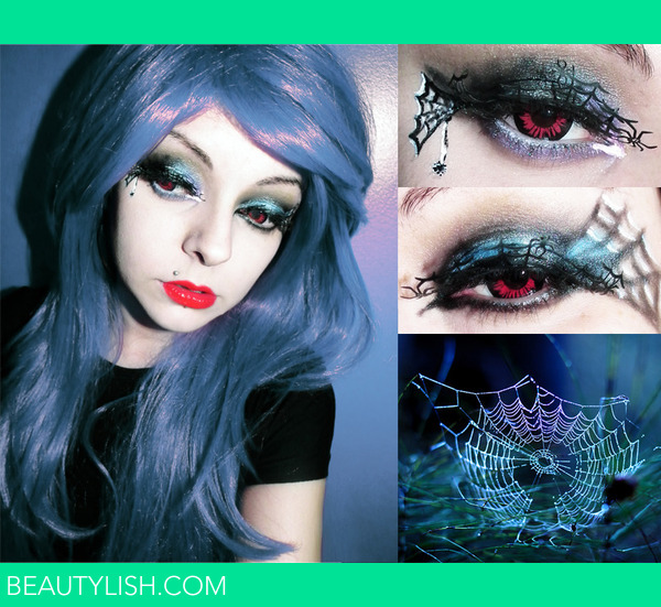 Spider Halloween Makeup Inspired Edgy Look | Cherry C.\'s ...