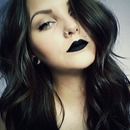 Black Lipstick and Smokey Liner.
