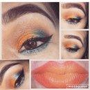 Sunset eye look & ombré lips